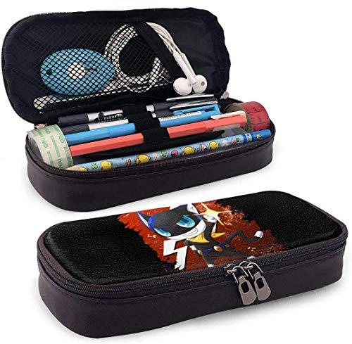 Estuche de gran capacidad para lápices de gran capacidad, organizador de escritorio, práctico soporte con cremallera Game Persona 5 Morgana