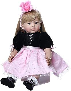 抱き人形 ウルトラロングブロンドヘア人形コレクションドール付き60cm幼児人形の王女の生まれ変わり女の子人形 WAWA1202