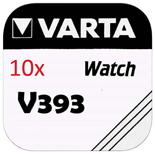 VARTA KNOPFZELLEN 393 SR754W (10 Stück, V393)