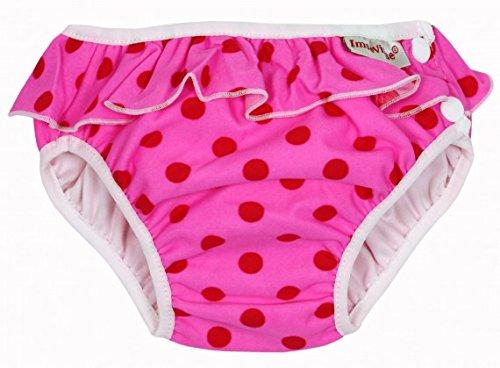 ImseVimse Schwimmwindelhose pink Punkte Rüschchen Größe: S (6-8kg)