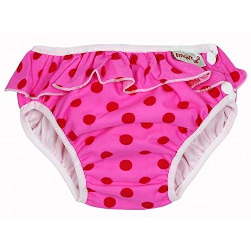 ImseVimse – Costume da bagno copripannolini, motivo Punkte, taglia L (9 – 12 kg)