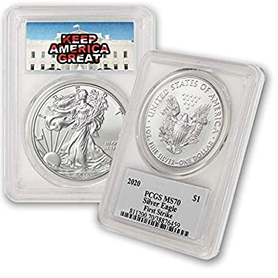 2020 1 oz Silver American Eagle MS-70 PCGS (First Strike) By CoinFolio $1 MS70 PCGS