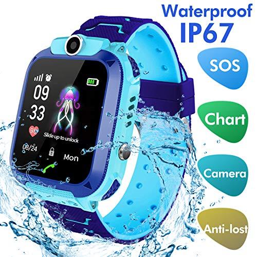 Jaybest Kinder SmartWatch Phone Smartwatches mit SOS Voice Chat Kamera Taschenlampe Wecker Digitale Armbanduhr Smartwatch Girls Boys Birthday