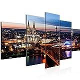 Runa Art - Bilder Köln 200 x 100 cm 5 Teilig XXL
