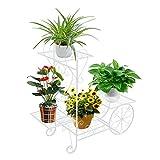 ZZBIQS Carro de jardín con soporte para plantas, soporte para plantas, soporte de...
