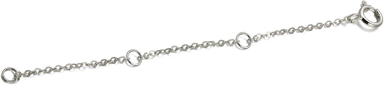 14K Solid Gold Chain Necklace Extender 2-3-4 Inch, Durable Adjustable Gold Chain Extender for Gold Necklace Bracelet