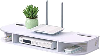 BBGSFDC Plataforma Flotante de 2 Niveles, en la Pared televisión Bastidor for Cajas de Gran Capacidad Media Console Guarda...
