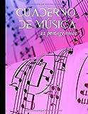 Cuaderno de música 12 pentagramas: Cuaderno de composición para músicos y cantantes aficionados y experimentados - piano, guitarra, voz...|100 páginas en formato A4 (Spanish Edition)