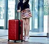 Equipaje Lyl Bolsa Ligera TSA Lock Trolley Maleta Dura de la PC de Viajes Shell Carry On L (Color : D, Size : 24 Inch)