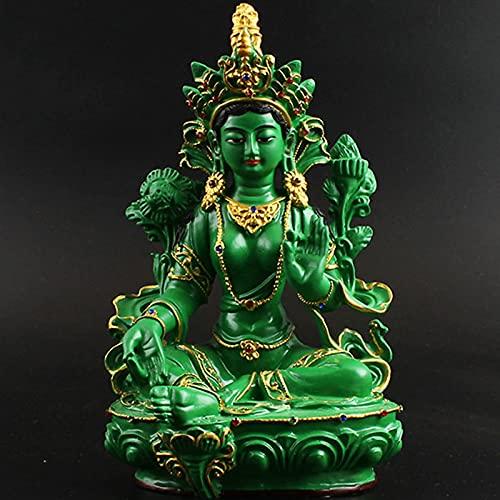 J.Mmiyi Tara Verde Buda Figura Estatua Decorativa, Escultura De Meditación para Casa, Coche, Altar, Oficina Decoración, Regalo,A