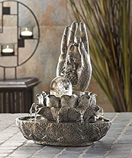 DecorDuke Tabletop Relaxation Buddha Fountains Garden Waterfall Indoor Pump Water Mainstays Tranquility Feng Sui Outdoor