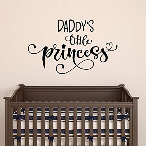 wZUN Pegatinas de Pared Palabras de la pequeña Princesa de papá jardín de Infantes Dormitorio de niños habitación de bebé decoración del hogar Pegatinas de Vinilo 50X81cm