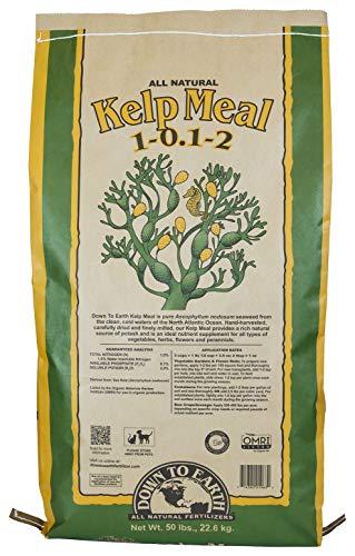 Down To Earth Organic Kelp Meal Fertilizer Mix 1-0.1-2, 50 lb