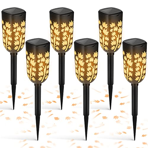 Lamparas Solares para Jardin Luz Solar Exterior, Luces Solares LED Jardín IP65 Impermeables Iluminación de Exterior, Lámpara Solar Decorativa para Exterior Camino Césped Patio Camping – 6 Piezas
