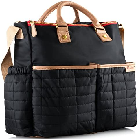 Designer Diaper Bag by Maman With Matching Changing Pad PATENTED product image