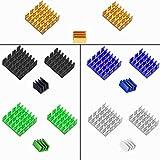 CTRICALVER Disipador de Calor Disipador de Calor de Aluminio CPU Cooler con para CPU de Placa Base, Módulo Mos, Transistor, 3 especificaciones(15 pcs)