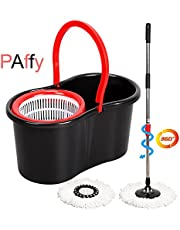 PAffy Plastic Magic Spin Mop - Red & Black