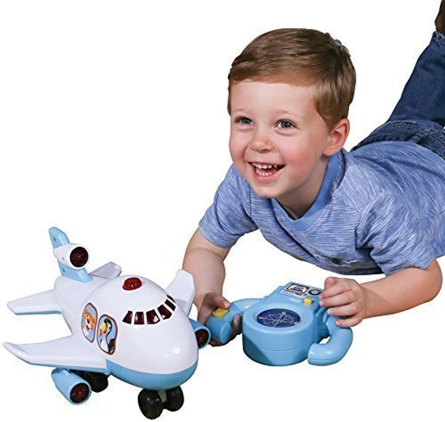 ahorra hasta un 30-50% de descuento CP CP CP Juguetes First Remote-Controlled Jumbo Jet with Flashing Lights and Music by Constructive Jugarthings  precios ultra bajos