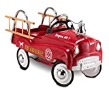 InStep Kids Toy Pedal Car, Toddler Push and Ride On Toy, Fire Truck