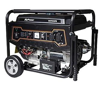 ITCPower IT-GG7000FE Generador Eléctrico Gasolina, 5000 W, 230 V, Negro, Grande
