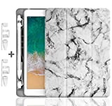 ipad9.7_2018_Pencil_case New - Marble + Two Sets of Pencil Cap Holder