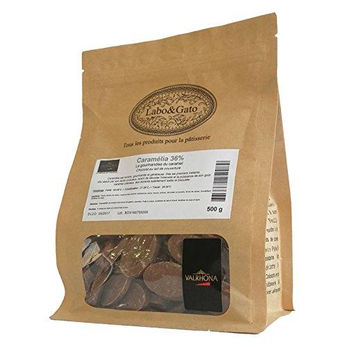 Valrhona - Caramélia 36% chocolat au lait de couverture Création Gourmande fèves 500 g