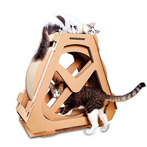 Aida Bz Ferris Wheel Cat krasplank gegolfd papier kat klimmen frame kat nest rotatie creatief met kat krasplank
