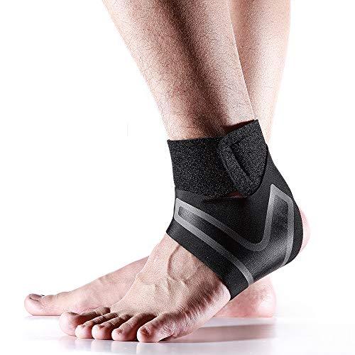 Totill Fußbandage, Sprunggelenkbandage Für Damen und Herren, Knöchelbandage, verstellbare Fußgelenkbandage mit Klettverschluss,Compression Ankle Support Brace Wrap Eine Grösse passt Allen