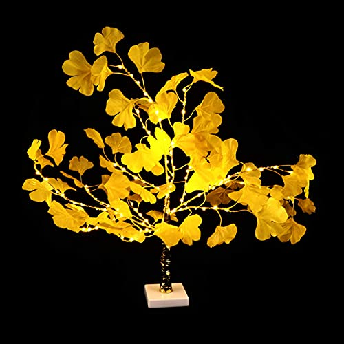 Asequible LED Ginkgo Tree Light Tabletop Bonsai Tree Decorative Light Luz Arejado Arejado Twig Lámpara Compatible con Festival de Fiesta de Boda Fiesta Adorno Amarillo Compatible ( Color : Yellow )