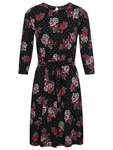 Vive Maria Flowerdots Kleid Schwarz Allover, Größe:XL