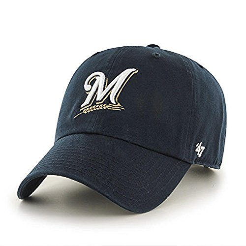 47 Unisex Clean Up Baseball Cap, Blau (Navy-Brewers Navy-Brewers), One Size
