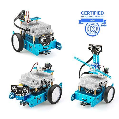 Makeblock mBot Pacchetto Aggiuntivo Servo Pack, Robotica 3-in-1 Pacchetto Aggiuntivo, 3 Forme, Gatto Che Balla, Gatto Che Agita la Testa, Gatto Che Emette Luce