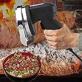 Cuchillo eléctrico Gyros Kebab para cortar kebab cuchillo Shawarma cuchillo Gyro cuchillo, cuchillo de rebanadas de carne Gyros, 80 W