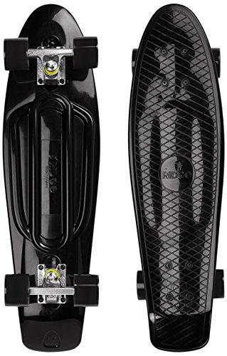 Ridge Skateboards Recycled Cruiser Skateboard, Nero/Nero, 27'