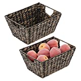 INSTANT ORGANIZATION: These large woven storage bins keep home clutter under control by storing all of your pantry essentials; Great for storing dry goods, holds canned goods, soups, food packets, seasonings, baking supplies, snack bags, boxed foods,...