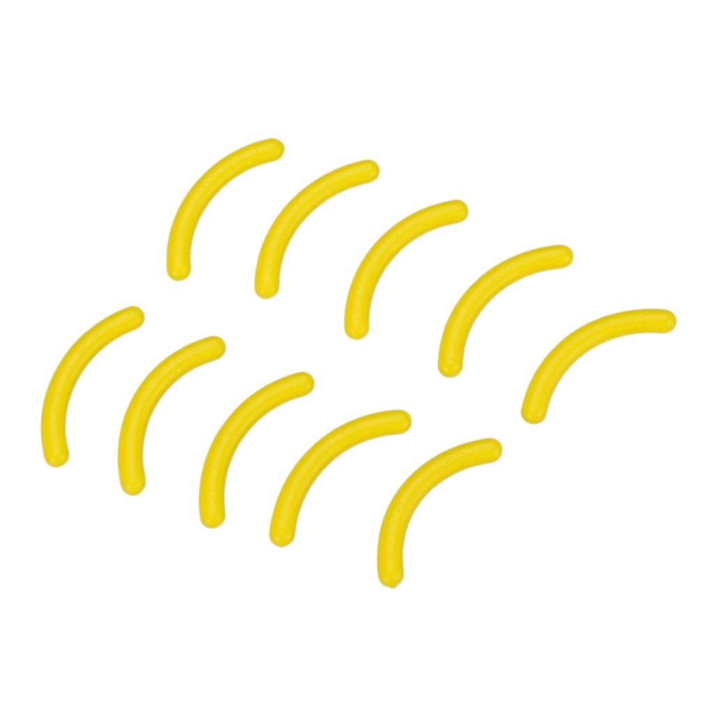 優遇遅れ証言するPerfeclan 10個 まつげ拡張用 シリコンストリップ シリコーン ディスプレイ スタンドホルダー 全4色 - 黄