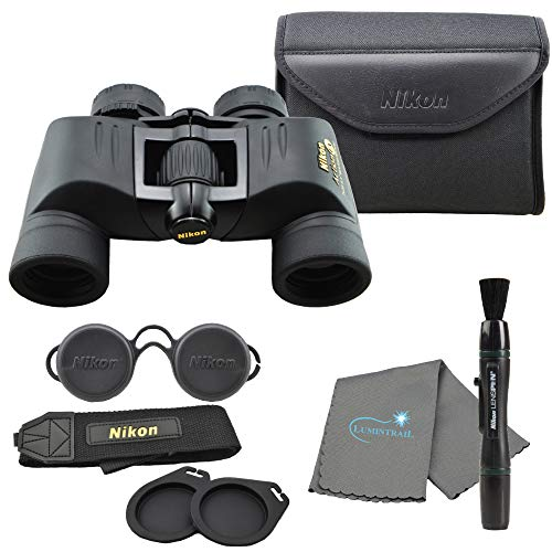 Nikon 7237 Action 7x35mm EX Extreme All-Terrain Binoculars Bundle with Nikon Lens Pen and Lumintrail Cleaning Cloth