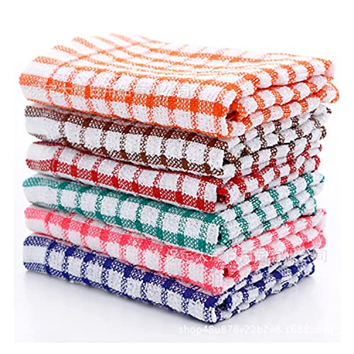MAS International Ltd TERRY TEA TOWEL 100% COTTON SOFT TOUCH in Pack of 2, 4, 6, 8, 10 & 12 (Pack of 4)