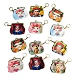 Frida Kahlo 12 Pack Party Favor Coin Purse Keychain Gift Set Beautiful Images