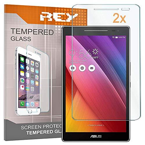 REY 2X Protector de Pantalla para ASUS ZENPAD 8' Z380C, Cristal Vidrio Templado Premium, Táblet