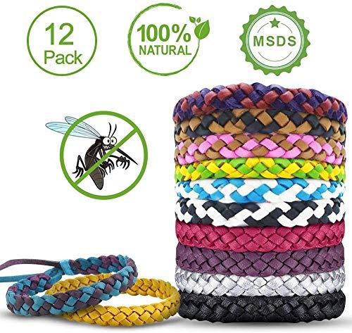 unibelin Mückenschutz Armband Anti mücken Armband 100% natürlicher Pflanzenextrakt Moskito Armband für Kinder geeignet, Erwachsene Indoor und Outdoor Camping Klettern Schlafzimmer Grillen