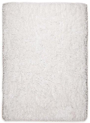 Tom Tailor Teppich Flocatic, UNI, weiß 120cm x 180cm weiss