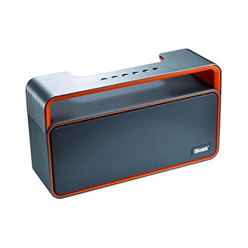 Spirit of St. Louis - I-Bomb- Portable Bluetooth Speaker with FM Radio - Alcance más de 8h - ABS, Metal - Negro