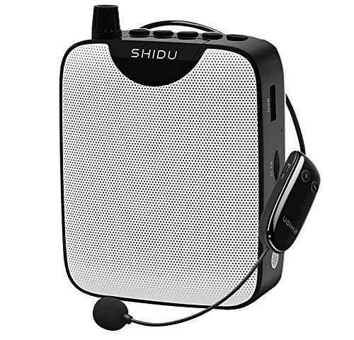 Stemversterker met draadloze microfoon Headset, draagbare Audio PA-systeem met oplaadbare mini speaker 10W 2000mAh…