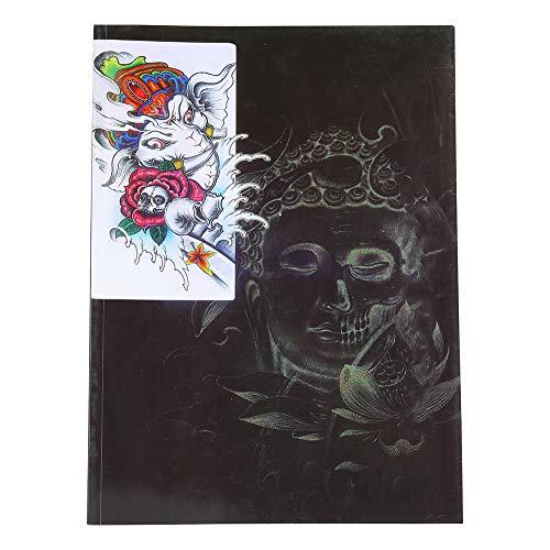Livre de tatouage, 36 pages modèle de tatouage ensemble couleur motif exquis modèles de pratique de tatouage accessoire de livre de référence pour les concepteurs professionnels et les illustrateurs