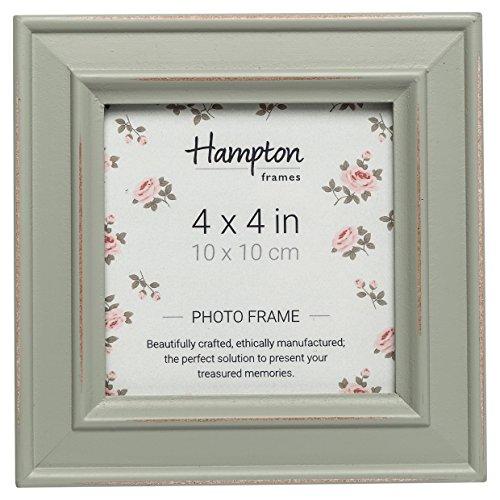 Hampton Frames Paloma Bilderrahmen, quadratisch, Holz, graugrün, 4x4 (10x10cm)