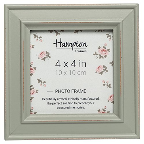 Hampton Frames PALOMA Distressed Square Picture Photo Frame Sage Green 4x4 (10x10cm) PAL301944S