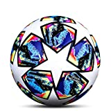 LDLXDR Ballons Match Football- Ballon d'entraînement Toutes Les Tailles 5 4 Match Officiel Adultes Junior Enfants Football Futsal,NO-12,5