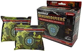 Zarpax Reusable Outdoor Gear and Gun Safe Dehumidifier, 2-Pack