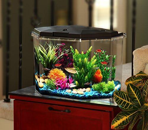 Koller Products Smart Tank 6 5 Gallon Aquarium LED Lighting Multiple Colors Full Filtration product image